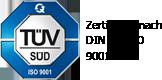 TÜV SÜD zertifiziert nach DIN EN ISO 9001:2000