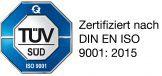 TÜV SÜD zertifiziert nach DIN EN ISO 9001:2015